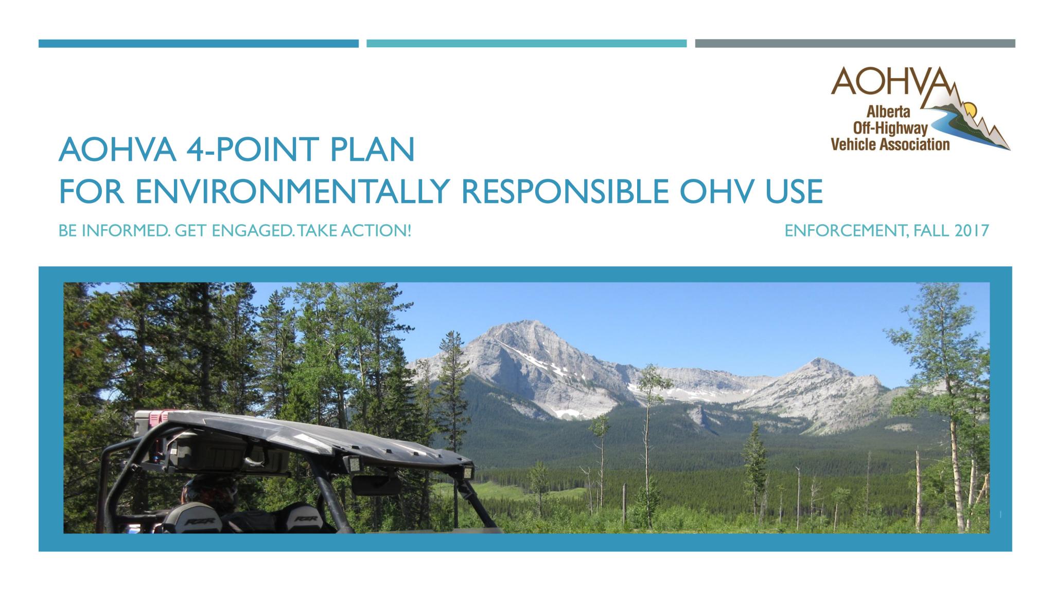 AOHVA 4-Point Plan_Enforcement_Title Page