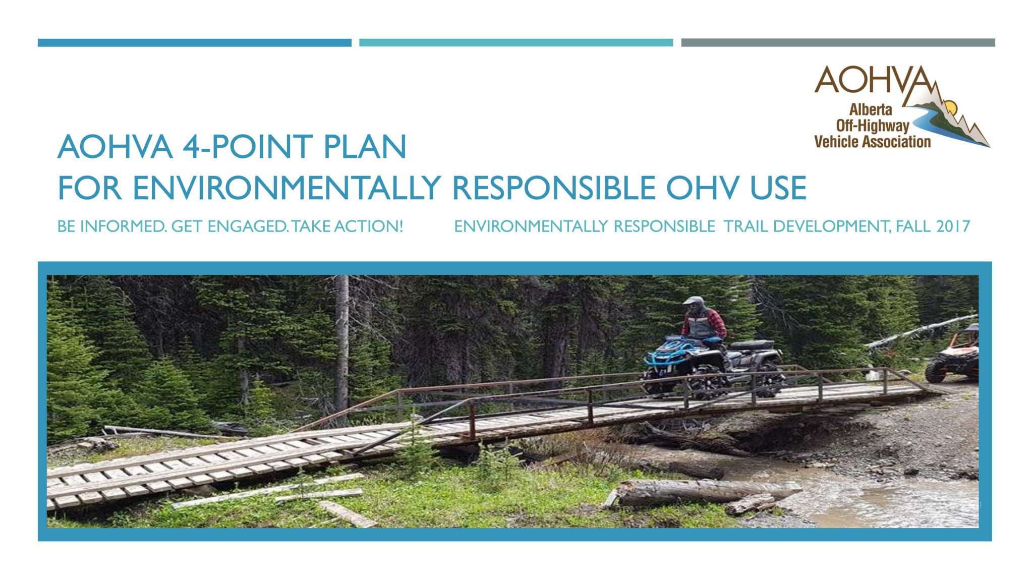 AOHVA 4-Point Plan_Environmentally Sustainable Trail Development_Title Page